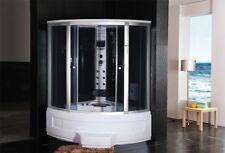Cabina idromassaggio con vasca 135x135 angolare 12getti massaggio e cromoterapia