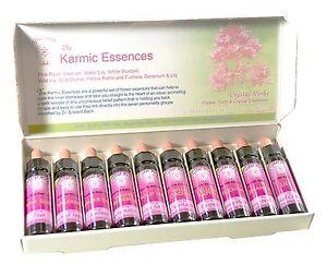 Boxed Set of 10 x 10ml Karmic Essences for swift release of unconscious beliefs