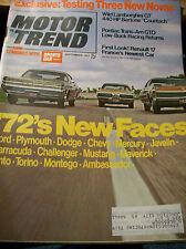 Vintage SEPTEMBER 1971 MOTOR TREND Magazine 124pp Vintage ADS, Articles