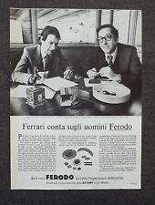 G609-Advertising Pubblicità-1980 - FERODO SILVANO COMINO , MAURO FORGHIERI
