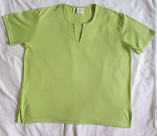 Lovely bright-green short-sleeved top from Casual Comfort, size 14
