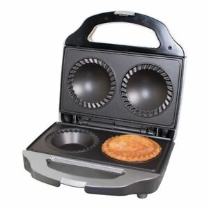 New Electric Deep Fill Non Stick Double 2 Pie Maker 700W Christmas Gift