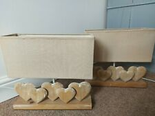 Rustic Wooden Five Heart Cream Shade