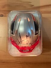 Sony Michel Autographed New England Patriots Mini Football Helmet - GSE COA