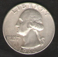 Silver Quarter 1964 D (Denver Mint) U.S. 25 Cents Coin with FREE, Fast Shipping