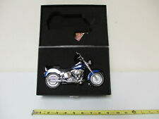 Harley-Davidson Flame Blue Pearl  2009 FLSTF Fat Boy  By DCP 1/12th Scale