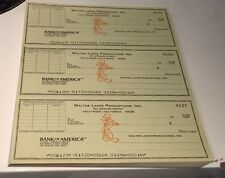 10   WALTER LANTZ PRODUCTIONS, INC  BANK OF AMERICA  UN-SIGNED CHECKS