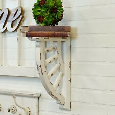 Gingerbread Corbel Brackets in Aged Shabby Chic White Painted Finish