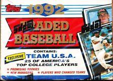 10 SET LOT 1992 TOPPS TRADED SEALED BASEBALL