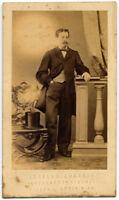 CDV Firenze Ritratto di uomo 1860c Foto originale albumina Zorzato S1171