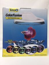 New Tetra Betta Aquarium Bowl 0.7-Gallon w/ LED Light Hood BettaTank Mini Bowl
