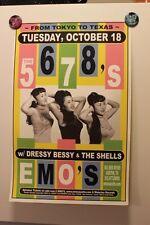 The 5.6.7.8's/5678s Austin TEXAS (2005) Concert Poster shonen knife Kill Bill