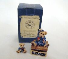 Boyds Bears Le Bearmoge Collection - Ms  Bruin Teacher Porcelain Hinged Box