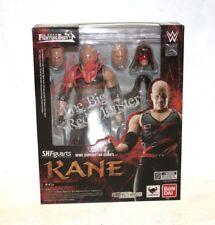 Autographed Kane  WWE S.H. Figuarts Series Action Figure, Bandai WWE WWF