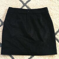 J Crew Factory Pocket Black Houndstooth Mini Skirt Wool Blend Casual Size 4