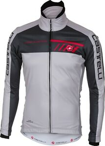 Castelli Velocissimo Men's Windstopper Cycling Jacket Size Grey Large