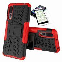 Para Huawei P Inteligente Plus Hibrido Funda Estuche Exterior 2 Piezas Rojo + H9
