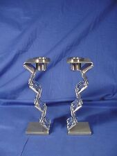 Pair Of Swarovski Crystal Candlesticks Dressed Up #606980 Rare Nib!