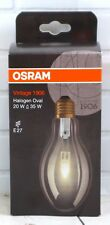 Osram Vintage 1906 Halogen Oval 20w Dimmable Warm White Light Bulb E27 Socket