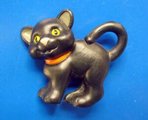 Hallmark MERRY MINIATURES Halloween Vintage CAT BLACK Kitten 1994 Figurine