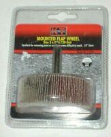 "K-T Industries Mo# 5-6954 Mounted Flap Wheel 1-1//2 x 1//2/"" x 80 grit 1//4/"" stem"