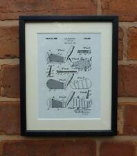 "USA Patent Drawing Vintage GOLF CLUB Mounted Matted PRINT 10"" x 8"" 1931 Gift"