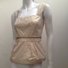 Veronika Maine sz 12 Gold Evening/ Dress Style Top AS NEW