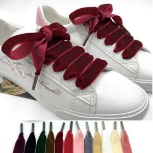 100cm/120cm Velvet Surface Shoelaces Unisex Wide Colorful Sports Shoe Laces UK