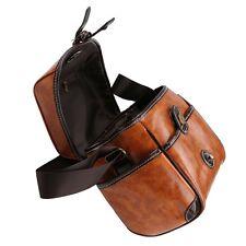 Waterproof Retro PU Leather DSLR SLR Camera Shoulder Carry Bag For Canon Nikon #