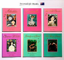 x6 CHILDREN'S STORIES ~ Doherty & Ray. Aladdin Cinderella Snow White. Retold.