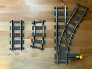 Lego 9V Track (Metal) Switch, Turnout, Curve