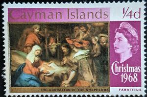 Stamp Cayman Islands SG221 1968 1/4d Christmas Unused