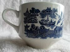 3 BLUE WILLOW CUPS MADE IN ENGLAND