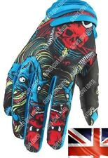No Fear Monster Cycling Gloves Fishing Motorcycle Motocross Bike KTM Fox TLD Blue Large