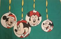 vtg disney mickey minnie mouse christmas pillowcase standard