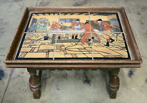 """California Vintage Table with Taylor Tiles """"Breakfast at the Three Pigeons"""""""