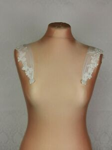 DETACHABLE Lace STRAPS - Made with soft elastic tulle and beaded lace