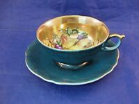 VINTAGE ROYAL SEALY CHINA TEA CUP AND SAUCER - FRUIT INTERIOR - MADE IN JAPAN