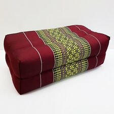 Thai Cotton Pillow Bolster Cushion Headrest Kapok 100% Handmade Thai Design # 21
