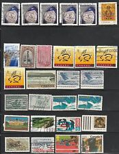 CANADA – COLLECTION OF 151 HIGH VALUES USED STAMPS FREE SHIPPING