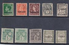 (Q21-68) 1937-60 Tangier mix of 10 stamps including O/P &GB stamps