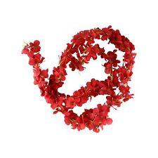 200cm Hydrangea Flower Garland - Artificial Flowers Shabby Chic Vintage Silk Red