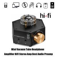 Mini Vacuum Tube Headphone Amplifier HiFi Stereo Amp Best Audio Preamp NS-02E