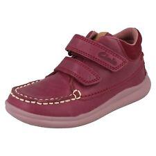 Girls Clarks Casual Ankle BOOTS Cloud Mist Plum (purple) UK 7 Infant G