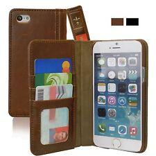 Apple iPhone 6 S Plus Case Book Vintage Wallet Leather Card ID Slots Cash Pocket