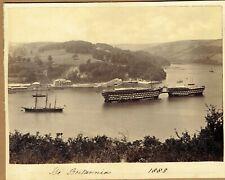 More details for hms britannia & hindostan at dartmouth, devon.  rare 1880s albumen photograph