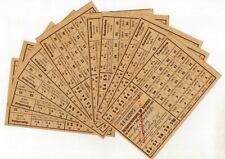 10 x Lebensmittelkarte Bezugsschein für Kartoffeln von 1959