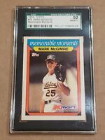 1988 Topps K-Mart Memorable Moments Mark McGwire SGC 92