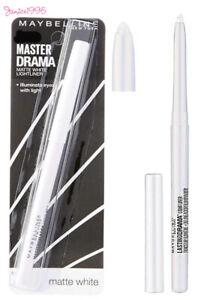 MAYBELLINE Master Drama Retractable Pencil Eyeliner Lightliner MATTE WHITE