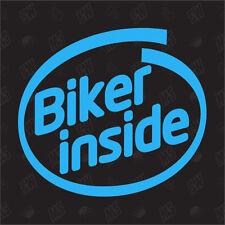 Motociclista inside Adesivo,Adesivo Divertente,Moto,Monster,Ducati,Aprilia
